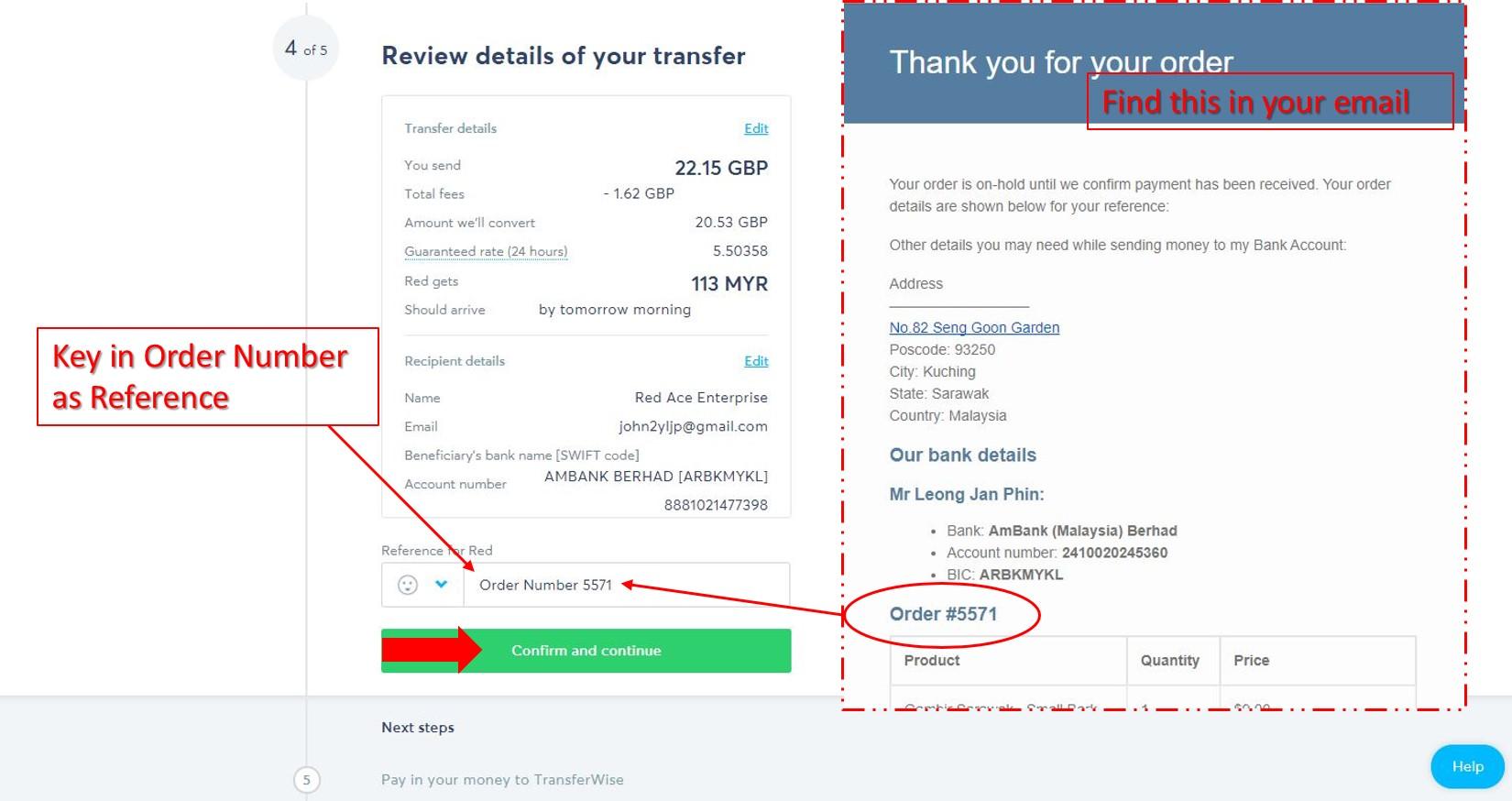 Transferwise Step by step 9